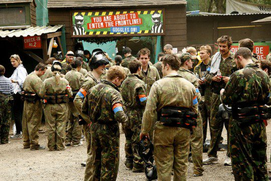 Staff paintball day