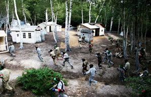 Attack!...Paintball for kids at Campaign.