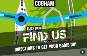 Directions to Campaign Paintball & Lazer park, Cobham.
