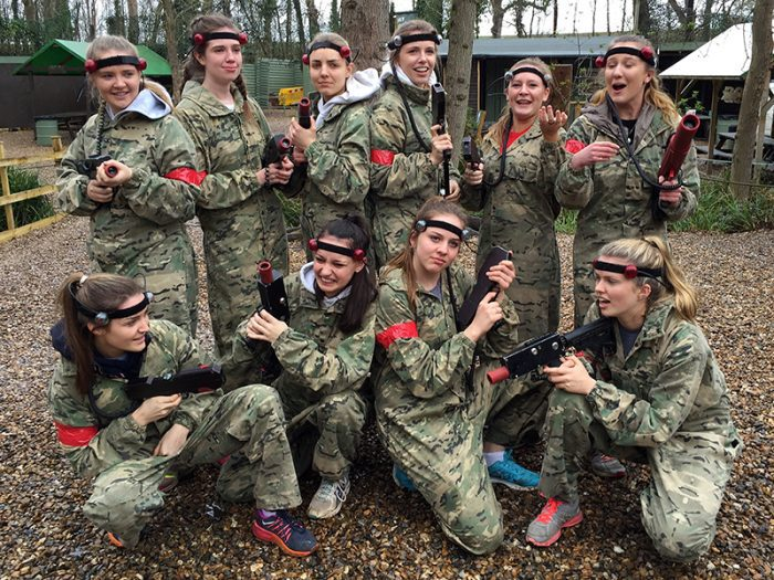 laser tag london - girl power