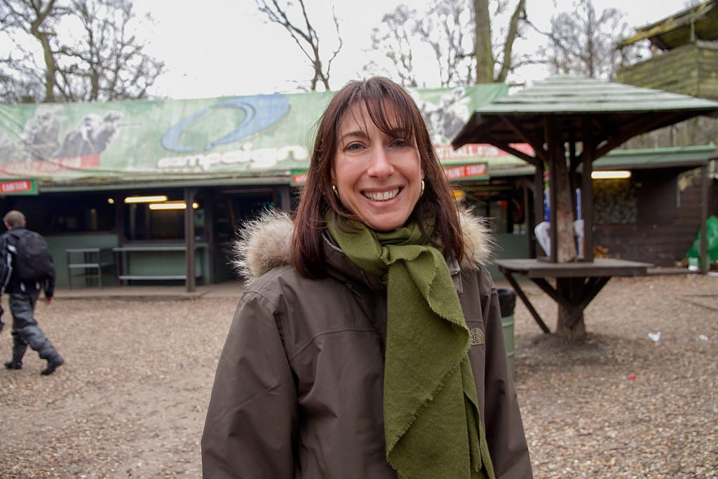 Samantha Cameron at Campaign Paintball