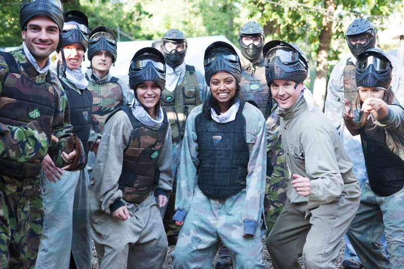 Paintball team at Campaign