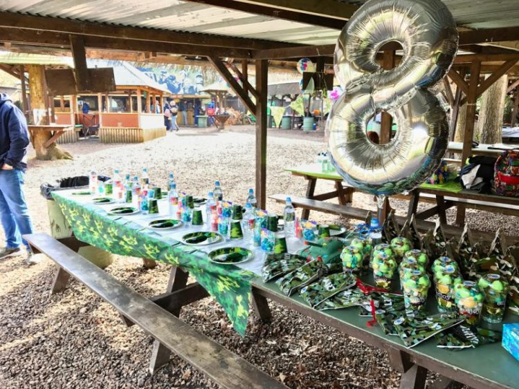 paintball party table