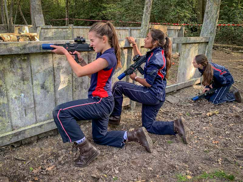Scouts use paintball as a team sport