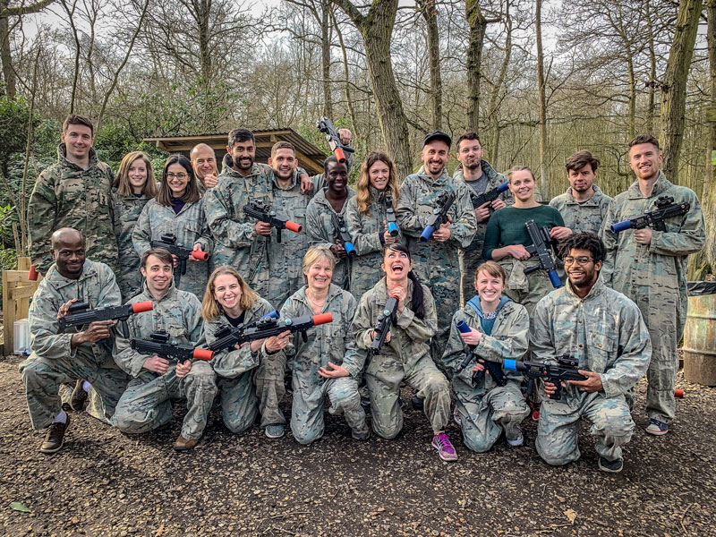 Office away day - outdoor laser tag