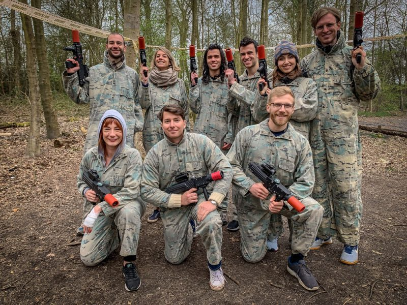 The Team! Outdoor laser tag